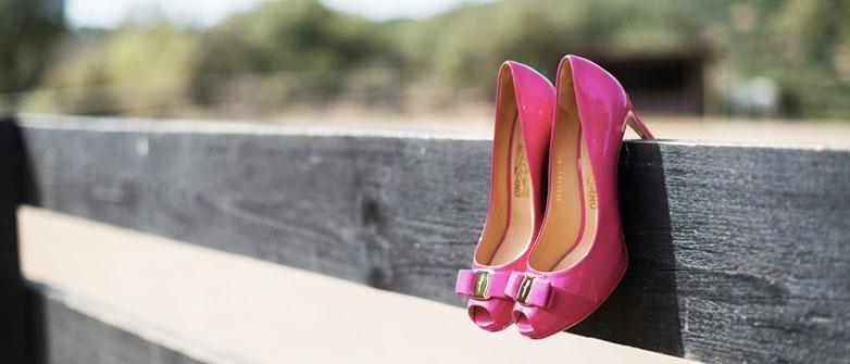 En Una Originales Zapatos De Novia Para El Campo Boda PkXiuZ