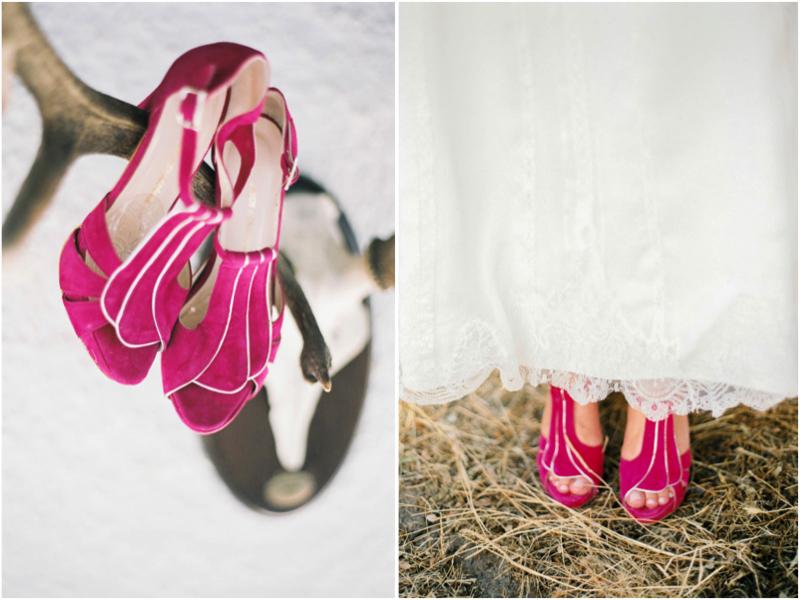 zapatos de novia originales para una boda en el campo