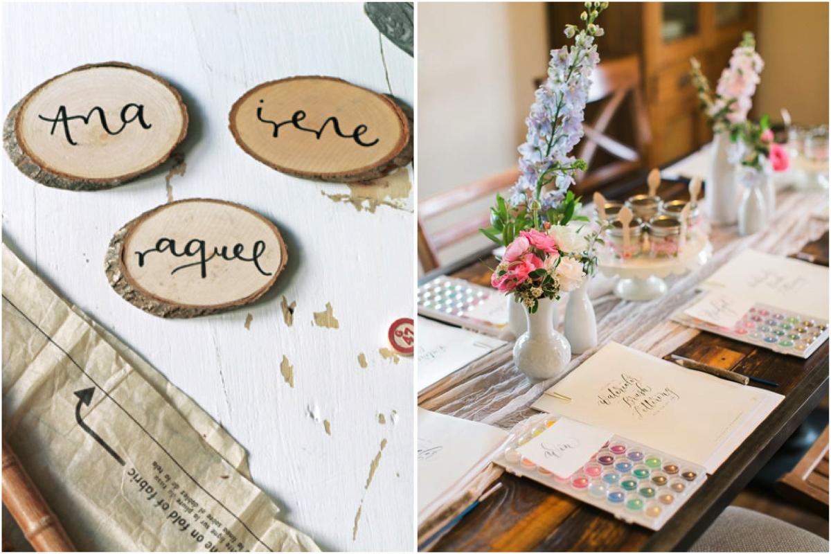 taller de caligrafía para despedida de soltera