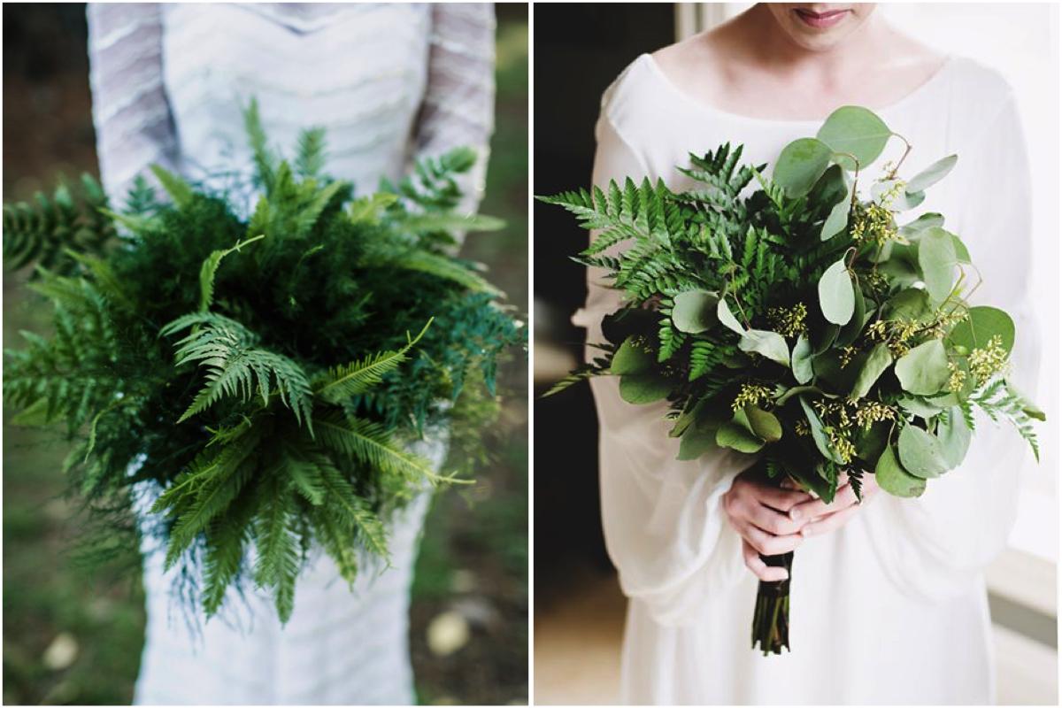 Ramos de novia en verde