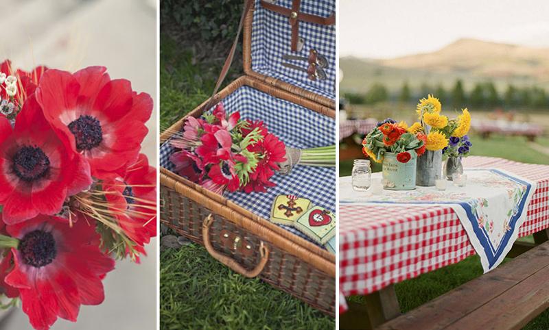 picnic con cuadros vichy