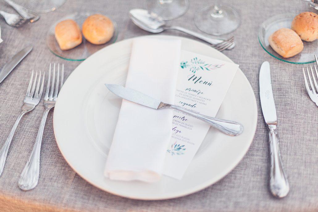 menú de boda