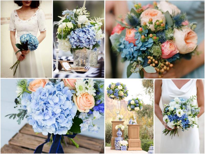 hortensias azules para la decoración de tu boda