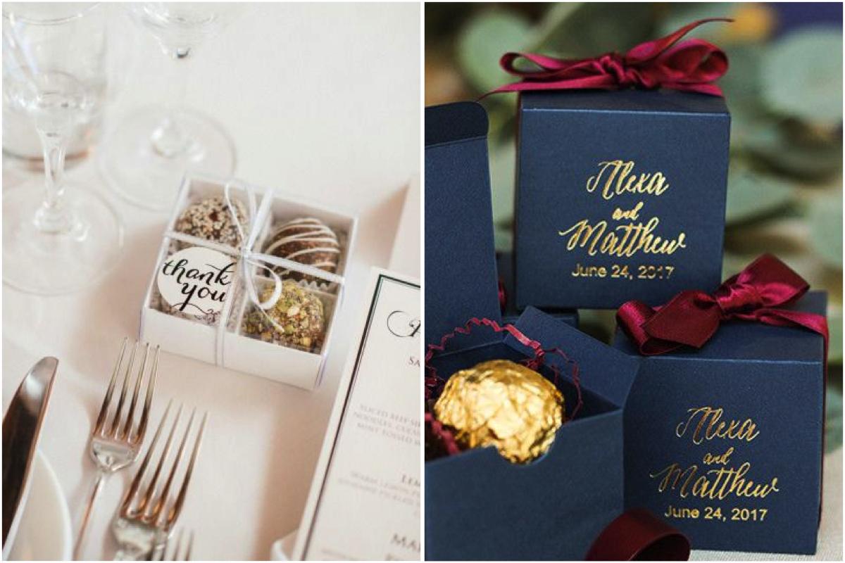 chocolate para regalos de invitados de boda